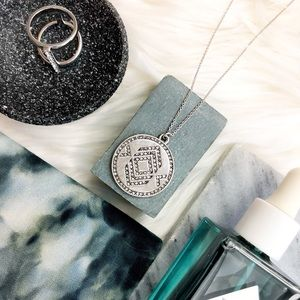 House of Harlow Silver Geometric Pendant Necklace